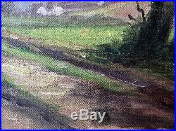 1890s French Oil Painting On Canvas