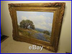 18x24 original W. A. Slaughter oil painting on canvas Texas Hill Country