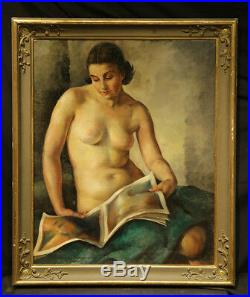 1930 Young Beautiful Nude Lady Art Deco Russian Style