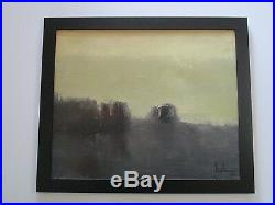 1960's Exhibited Santiago Chile Painting Abstract Expressionism Mystery Artist