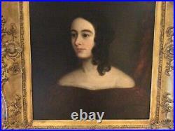 19th Century. ENGLISH SCHOOL. OIL ON CANVAS. PORTRAIT OF A LADY