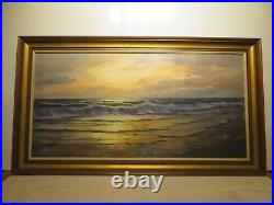20x40 org. 1950 oil painting by Robert Wood of Laguna Beach Authentic Piece