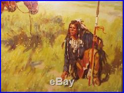 24x30 original oil painting on canvas by G. Yurik of Following the Trail