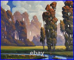 30x24 William Hawkins Impressionist Landscape Oil Painting Tucson Arizona Artist