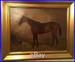 ALFRED GRENFALL HAIGH 1870-1963 Oil on Canvas'SCEPTRE' Famous Race horse