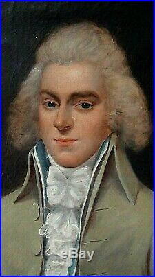 ANTIQUE 19c FRENCH ORIGINAL OIL ON CANVAS PORTRAIT OF A YOUNG GENTLEMAN