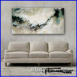 Abstract Painting Modern Canvas Wall Art Large Resin Coated Framed US ELOISExxx