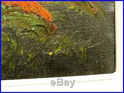 Al Black Florida Hof Highwaymen Signed Oil Painting On Canvas Panel Framed Coa