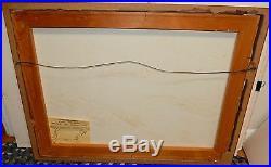 Alfred Birdsey Bermuda Sail Boats Scene Original Oil On Canvas Painting
