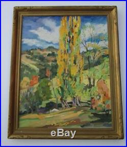 Antique Bright Impressionist Painting American Landscape Early California Oil