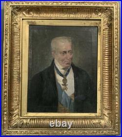 Antique Oil Painting Portrait Of The 1st Duke Of Wellington Circa 1840s 19th C