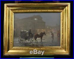 Antique Polish oil painting Ignacy ZYGMUNTOWICZ Teatr Wielki Opera Narodowa
