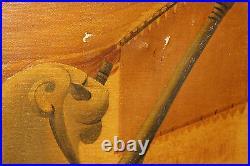 Antique S. Fiordimalva Signed Oil Painting Slave Women Sold Egyptian King 1935