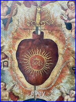 Antique mexican painting