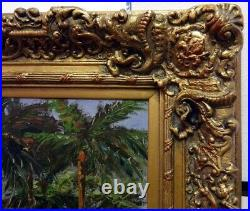 AntonioSunset on the Coast Original Oil withAntique frame H. Signed Make an Offer