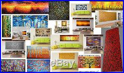Art Painting Canvas Fish Aboriginal inspired Landscape Modern Australia 63