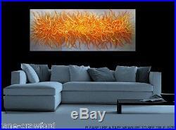 Australian Art Modern Painting aboriginal Bush fire Abstract 240cm x 80cm Canvas