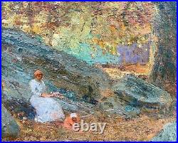 Autumn in the Woods, NY Impressionist Benjamin Eggleston, c. 1920