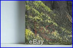 Bob Ross Mountain Waterfall Signed Original Painting Contemporary Art