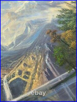 Breathtaking Landscape Oil-Painting Reproduction of Among the Sierra Nevada