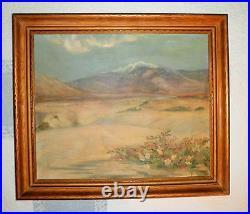 California Plein Air Impressionism Desert Landscape Oil Painting Artist Signed