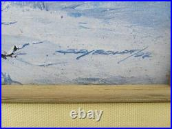 Carl Seyboldt Oil Painting Native American Western Winter Scene Coming Home