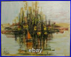 City Scape by Lee Reynolds Oil on Canvas