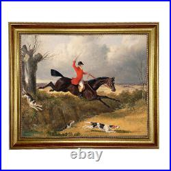 Clearing the Ditch, Framed Oil Painting Print on Canvas in Antiqued Gold Frame