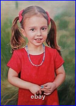 Custom portrait painting from photo, Hand painted, oil painting on canvas