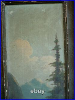 Detreville, Listed, Mount Shasta Ca California Plein Air Impressionist River Oil
