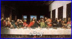 Dream-art Oil painting Leonardo da Vinci The last supper Christ & Christians 36