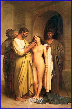 Dream-art Oil painting portraits purchase slaves nude young girl & men canvas
