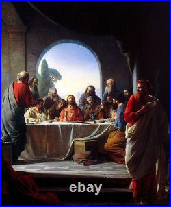 Dream-art oil painting The Last Supper Jesus Christ with Christians free postage