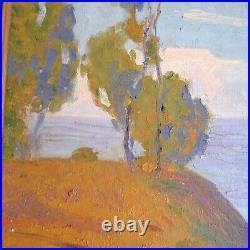 Early California Impressionist Painting Fanchon Johnson 1930 Coastal Landscape
