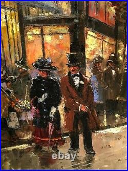 Evening In Paris Oil Painting By Robert Lebron