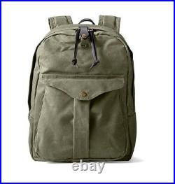 FILSON 11070307 Journeyman Backpack Oil Finish Rugged Twill Otter Green Book Bag