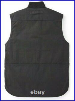 Filson 13 oz Wax Oil Work Vest 20151378 Dark Navy Waxed Tin Cotton Primaloft oun