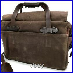Filson Classic Vintage Rugged Twill Oil Cloth 257 Briefcase Messenger Bag