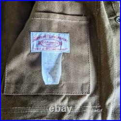 Filson oil finish tin cloth (waxed canvas) cruiser jacket