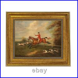 Fox Hunting Scene by J. N. Sartorius Framed Oil Painting Print on Canvas