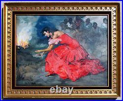 Francisco Rodríguez Sánchez Clement Painting Gypsy Flamenco Dancer Replica Art