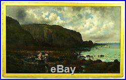 Franz Ferdinand Hoepfner (German 19 century) Antique 1888 Original Oil Painting
