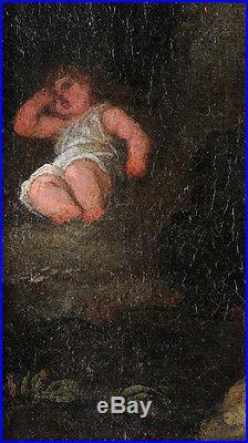 Hagar and Ismael, Flemish School, oil on canvas, 17/18th century