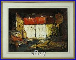 Helen de Silaghi SIRAG(1920-2008)Romanian/Canadian Listed Oil/Canvas Cityscape
