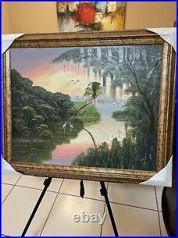 Highwaymen Florida Painting Al Black 30 x 36.5 Framed