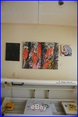 Hunt Slonem, Lorries no. 7, oil on canvas, large