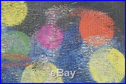 Hunt Slonem, Orbit no 8, oil on canvas, large