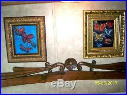 Hunt Slonem artwork, Blue Butterflies oil on canvas, What aMaster Piecefolks