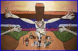I Sacrificed Myself For You Original Painting Crucifixion Jesus Anthony Falbo