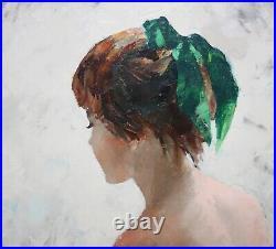 IGOR TALWINSKI-Polish Realist-Original Signed Oil-Young Female Nude $799